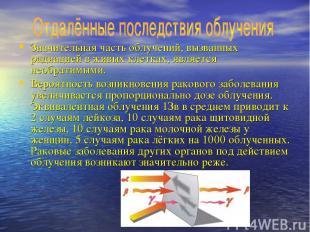 Значительная часть облучений, вызванных радиацией в живых клетках, является необ