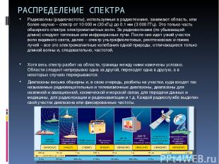 РАСПРЕДЕЛЕНИЕ СПЕКТРА Радиоволны (радиочастоты), используемые в радиотехнике, за