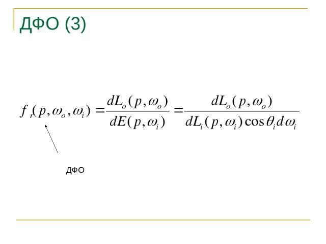 ДФО (3) ДФО Основы синтеза изображений