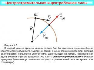 Центростремительная и центробежная силы Рисунок 4.8 В каждый момент времени каме