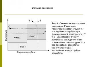 Рис. 9. Схематическая фазовая диаграмма. Различные траектории соответствуют: А -