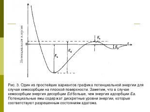 Рис. 3. Один из простейших вариантов графика потенциальной энергии для случая хе