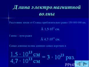 Длина электромагнитной волны
