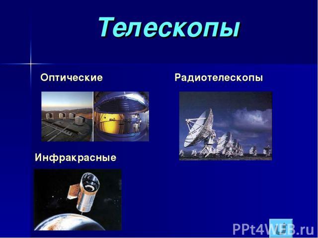 Телескопы Оптические Радиотелескопы Инфракрасные