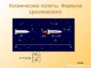 Космические полеты. Формула Циолковского назад