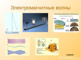 Электромагнитные волны главная