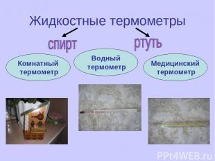 Жидкостные термометры Комнатный термометр Водный термометр Медицинский термометр