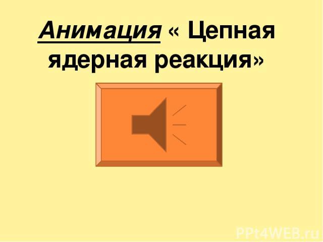 Анимация « Цепная ядерная реакция»