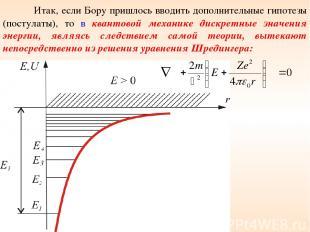 Итак, если Бору пришлось вводить дополнительные гипотезы (постулаты), то в квант