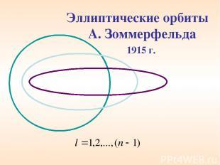 Эллиптические орбиты А. Зоммерфельда 1915 г.