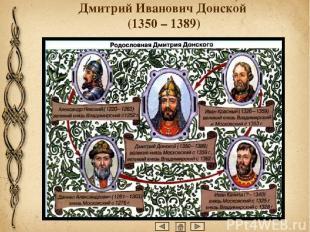 Сын Ивана Калиты(великий князь Иван II Красный) умер довольно рано. Ранние годы