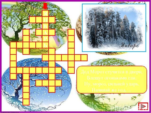 Дед Мороз стучится в двери, Блещут огоньками ели. Ну, мороз, сильней ударь, Начинай же год, ... Ь Р А В Н Я FokinaLida.75@mail.ru