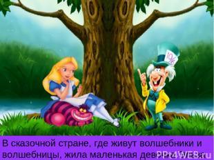 В сказочной стране, где живут волшебники и волшебницы, жила маленькая девочка Эл