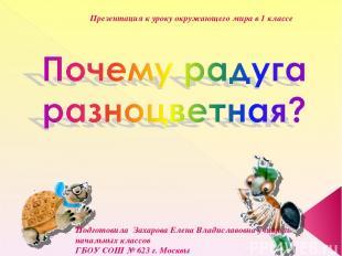 Подготовила Захарова Елена Владиславовна учитель начальных классов ГБОУ СОШ № 62
