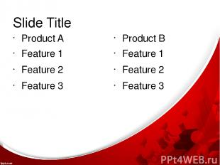 Slide Title Product A Feature 1 Feature 2 Feature 3 Product B Feature 1 Feature