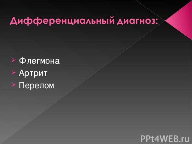 Флегмона Артрит Перелом