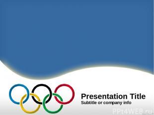 Presentation Title Subtitle or company info