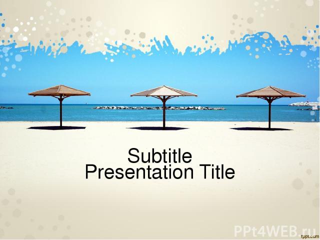Presentation Title Subtitle