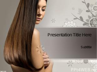 Presentation Title Here Subtitle