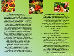 Вред вегетарианства Однозначно можно утверждать, что длительное применение ортод
