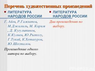 ЛИТЕРАТУРА НАРОДОВ РОССИИ Г. Айги, Р.Гамзатов, М.Джалиль, М. Карим, Д. Кугультин