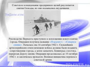 Руководство Вермахта приступило к воплощению нового взятия города. Операция полу