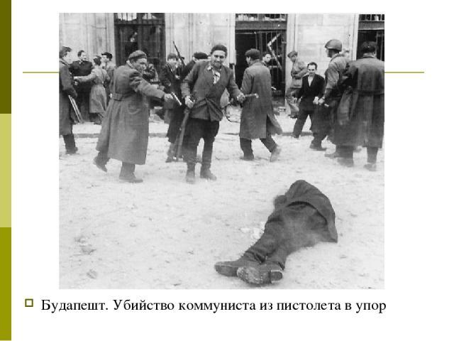 Будапешт. Убийство коммуниста из пистолета в упор