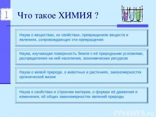 Что такое ХИМИЯ ?