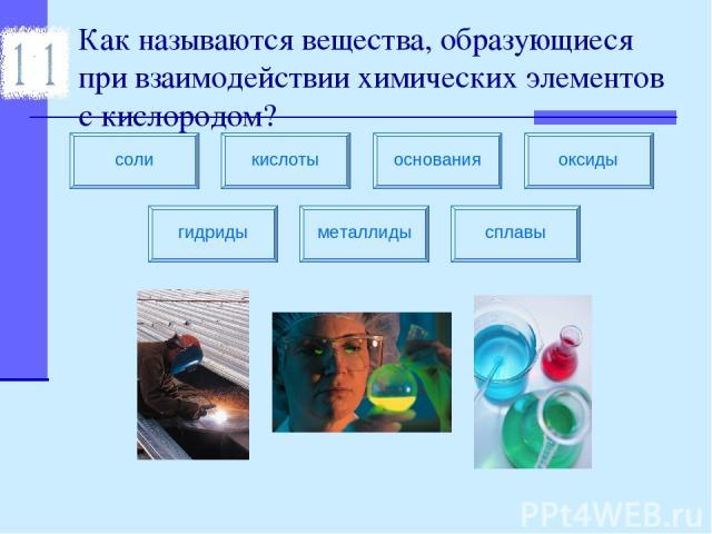 Как называются вещества, образующиеся при взаимодействии химических элементов с кислородом?