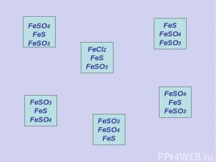 FeCl2 FeS FeSO3 FeS FeSO4 FeSO3 FeSO3 FeS FeSO4 FeSO3 FeSO4 FeS FeSO4 FeS FeSO3