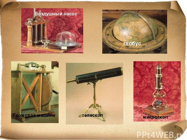 Воздушный насос глобус Громовая машина телескоп микроскоп