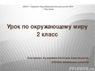 МБОУ «Средняя общеобразовательная школа №3» г. Протвино Урок по окружающему миру