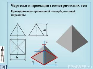 Чертежи и проекции геометрических тел Проецирование цилиндра