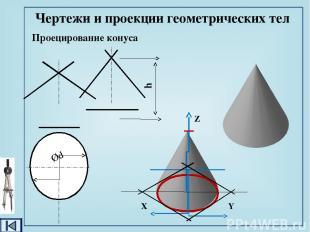 Проецирование шара Чертежи и проекции геометрических тел Ød
