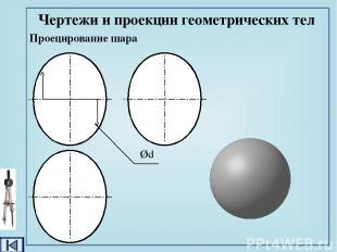 Проекции группы геометрических тел Задание для упражнений: сколько и какие геоме