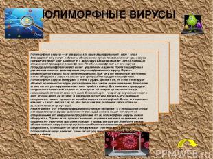 Типы антивирусных программ: 1) программы-детекторы: предназначены для нахождения