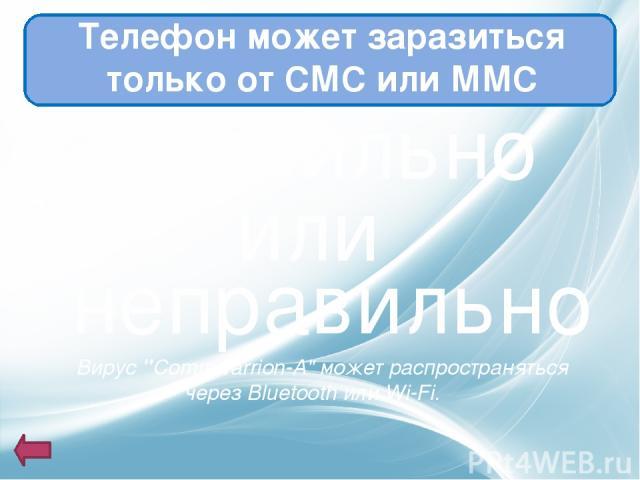 Телефон может заразиться только от СМС или ММС правильно или неправильно Вирус