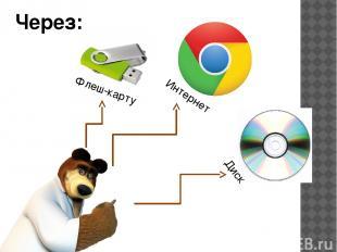 Через: Флеш-карту Интернет Диск
