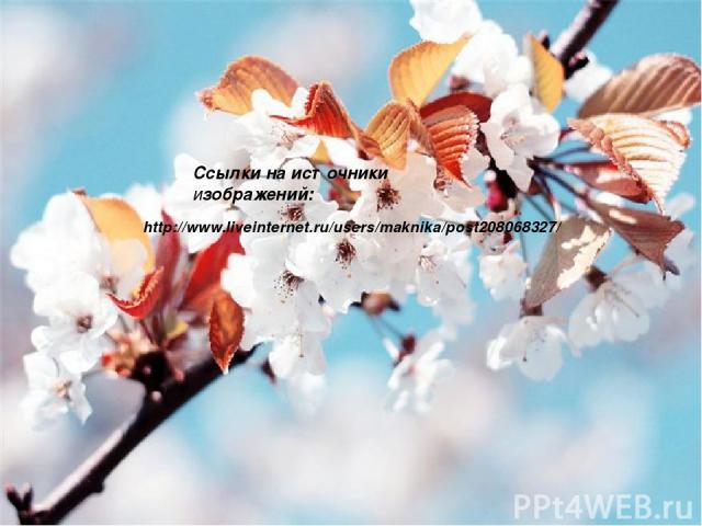 http://www.liveinternet.ru/users/maknika/post208068327/ Ссылки на источники изображений: