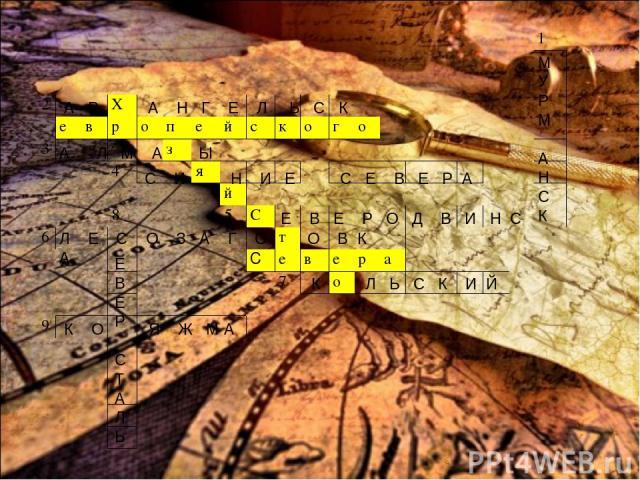 М У Р М А Н С К А Р А Н Г Е Л Ь С К А Л М А Ы С И Н И Е С Е В Е Р А Е В Е Р О Д В И Н С Л Е С О З А Г О О В К А К Л Ь С К И Й Е В Е Р С Т А Л Ь К О Я Ж М А 1 2 Х е в р о п е й с к о г о 3 з 4 я й 8 5 С 6 т С е в е р а 7 о 9