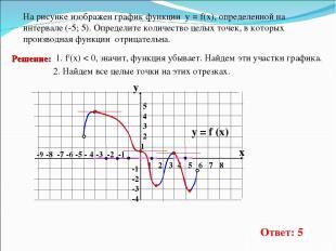 -9 -8 -7 -6 -5 - 4 -3 -2 -1 1 2 3 4 5 6 7 8 На рисунке изображен графикфункции