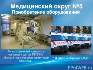 Медицинский округ №5 Приобретение оборудования Ангиографический комплекс в сосуд