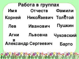 Корней Лев Агния Александр Николаевич Иванович Львовна Толстой Пушкин Барто Серг