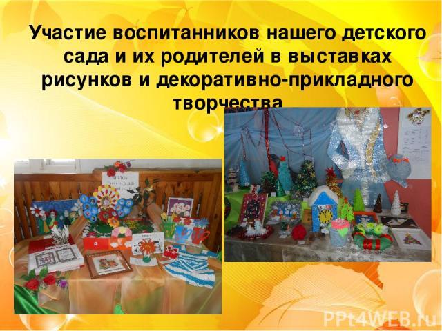 Участие воспитанников нашего детского сада и их родителей в выставках рисунков и декоративно-прикладного творчества