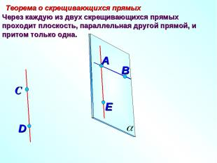 Через каждую из двух скрещивающихся прямых проходит плоскость, параллельная друг