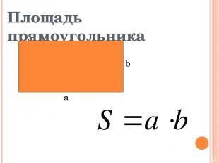 Площадь прямоугольника b а