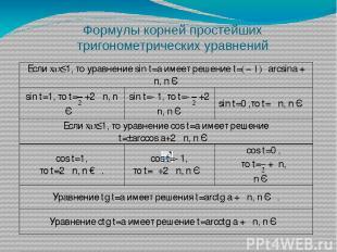 Ответ : Уравнение уже имеет простейший вид Это частный вид уравнения cos t=a a=0