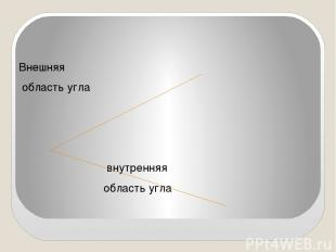 Внешняя область угла внутренняя область угла