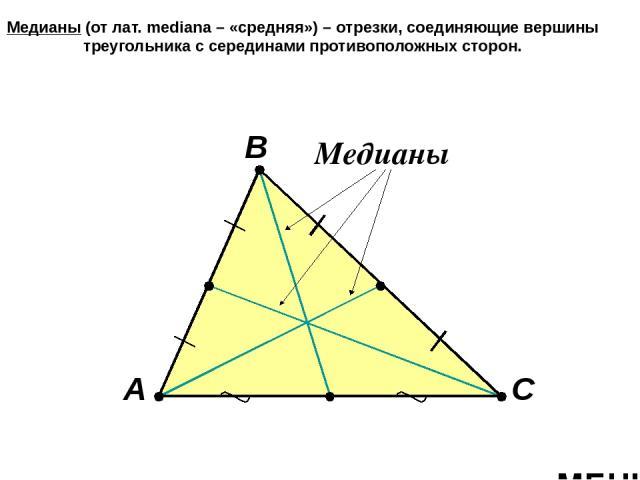 Виды треугольников по отношению к углам Остроугольный Прямоугольный Тупоугольный >90° 90° МЕНЮ