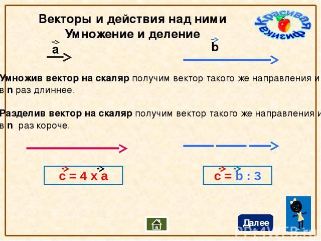 Проекции Вектора на данную ось Чтобы найти проекцию вектора на данную ось нужно опустить перпендикуляры из начала и конца вектора на эту ось. Длина отрезка между полученными точками называется проекцией. Проекция вектора на ось – величина скалярная.…